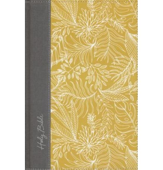 NKJV UltraSlim Reference Bible, Large Print, Hardcover, Yellow/White