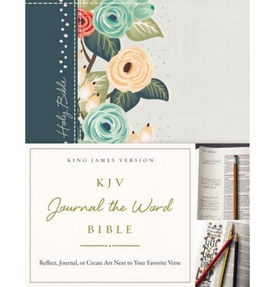 KJV Journal The Word Bible Deep Teal Floral