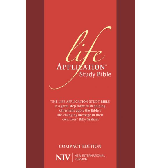 NIV Compact Life Application Study Bible (Anglicised) Red