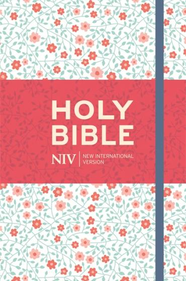 NIV Thinline Bible Floral Clothbound