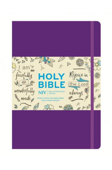 NIV Purple Single Column Journalling Bible