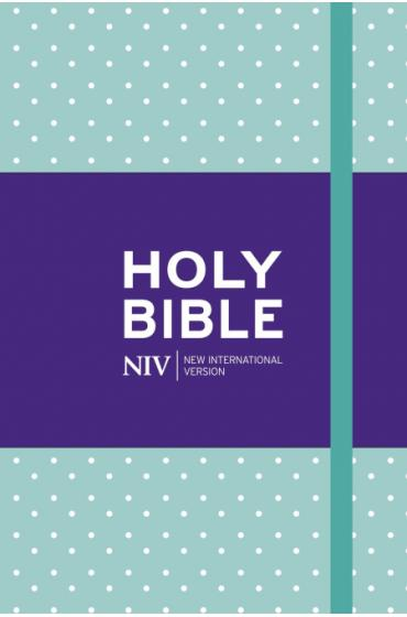 NIV Pocket Mint Polka-dot Notebook Bible